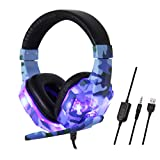 Celiy Bluetooth Headset Gaming Headset 3.5Mm Over-Ear Stereo Gaming Headphone Microphone for N-Switch