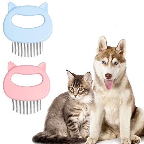 HIQE-FL Katzenhaarbürste Kurzhaar,Massagekamm für Haustier Katzen,Haustierbürste Langhaar,Katzenbürste Weich,Haustierkamm,Katze Bürste Kamm,Fellpflege Katze Bürste