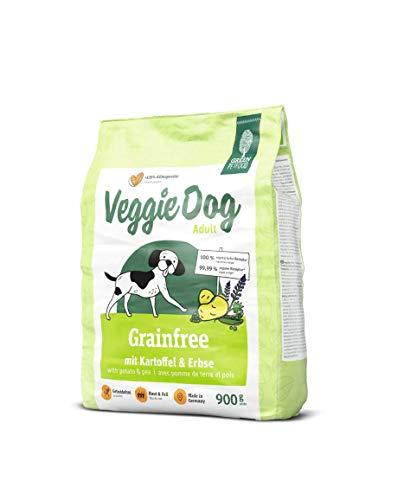 GREEN PETFOOD VeggieDog GRAIN FREE (5 x 900 g) | Croquettes végétariennes pour chien adulte | Sans céréales | Nourriture issue d'une production durable | Lot de 5 sachets