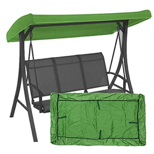 HYSJLS 191x120x23cm Canopy impermeabilizado Columpio for la Carpa de la sombrilla Camping reemplazo oscilación Roof Garden Material Tela Parasol Cubierta Arena Protección (Color : Green)