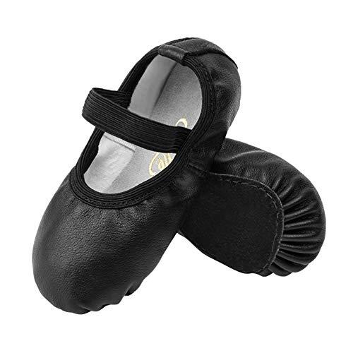 STELLE Premium Leather Ballet Slipper/Ballet Shoes Boys (Toddler/Little Kid) (1ML, Black)