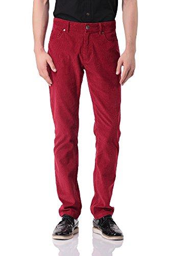 Pantalon en Velours Côtelé pour Homme - Skinny-fit - PH-06(38,Red)
