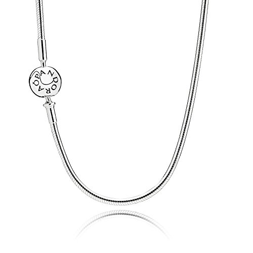 Pandora ESSENCE Collection Sterling Silver Necklace 596004-60 / 23.6' - Fits only Pandora ESSENCE Charms