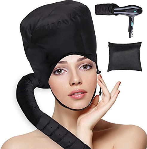 Bonnet Hood Hair Dryer, Drying Cap Hair Steamer, Adjustable Hooded Bonnet...