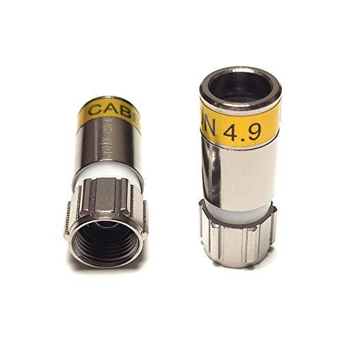 20 Stück Cablecon Kompressionsstecker F-56-CX3 4.9
