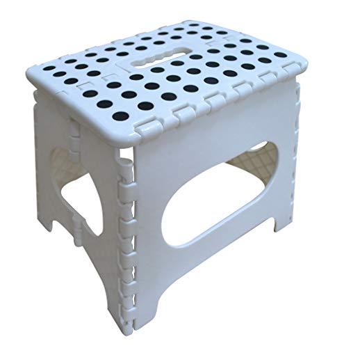 踏み台 折りたたみ 折り畳みチェア フォールディング ステップ スツール 収納便利 大人/子供兼用 椅子 チェア 脚立 キッズ 子供1段 収納踏み台 (ホワイト, 22cm)