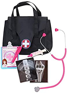 Sophia's 18 Inch Doll Sized Medical Bag & Doll Accessories | Dr Nurse Doll Set of Stethoscope, X-Rays, Syringe, Clipboard,...