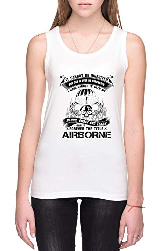 Airborne Infantry Mom Airborne Jump Wings Airborne Badge Airborne Brot Mujer Camiseta De Tirantes Blanco Tamaño M Women's Tank T-Shirt White