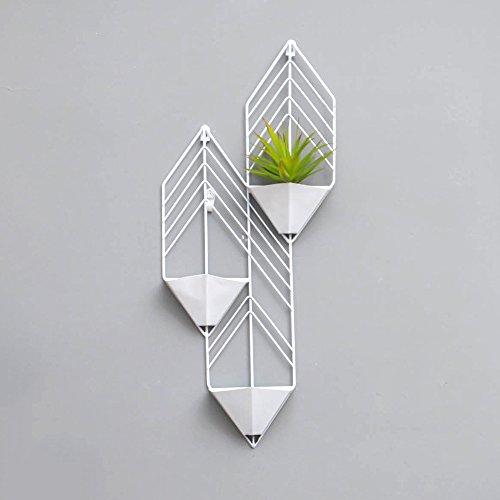 Planken, Geometrische vorm IJzeren Bloem Stand Noord-Europa Moderne Eenvoudige Ophanging Plant Bloemenrek Balkon Woonkamer Indoor Opslag Plank Bloemenpot Rack GLF