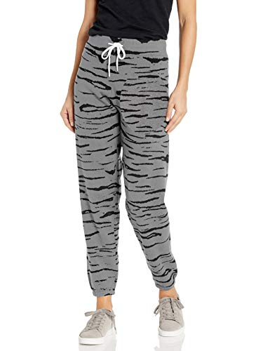 Monrow Women's Tiger Vintage Sweats, Heather Grey, Small