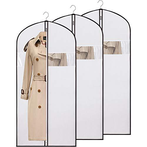 KEEGH Kleidersack Kleiderschutzhüllen zur Aufbewahrung und Reisen 137cm,Motten Beweis Staubdicht Anti-Milbe Atmungsaktiv für Kleid Kostüme Anzüge Mäntel