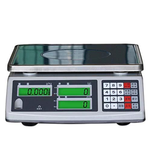 LJP Elektronische weegschaal, nauwkeurig tot 0,1 g, hoge precisie, 15 kg, 30 kg, industrieel 20kg/0.1g