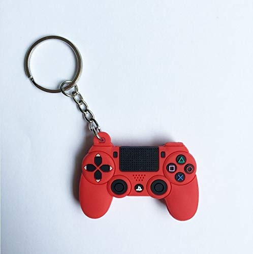 Zfwlkj Car Keychain PS4 Game Controller Keychain Mini Gamepad Car Keyring Fashion Bag Pendant Cute Game Console Soft Rubber Key Chains Men Boy Gift (Color : 03)