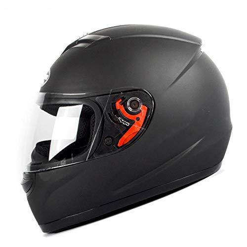 Motorhelm Zonnebrandcrème Locomotief Loophelm Racehelm Overlay Gepersonaliseerde rijhelm Matzwarte letters (transparante spiegel) Licht, comfortabel en veilig helmet_XL