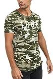 trueprodigy Casual Marca Camiseta para Hombre con impresión de Logotipo Militar Ropa Retro Vintage Rock Vestir Moda Cuello Redondo Manga Corta Slim fit Design t-Shirt, Colores:Khaki, Tamaño:S