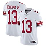 Maillot De Football NFL pour Homme New York Giants 13# Odell Beckham Jr. Maillot De Football Version Broderie T-Shirt à Manches Courtes NFL Sport Top Jersey