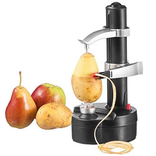 GOODS+GADGETS Elektrischer Kartoffelschäler Apfelschäler Gemüseschäler Obstschäler Elektro Schäler für Obst & Gemüse