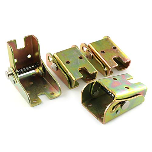E-outstanding Folding Leg Bracket 2PCS 90 Degree Furniture Table Legs Support Foldable Locking Hinges with Mounting Screw