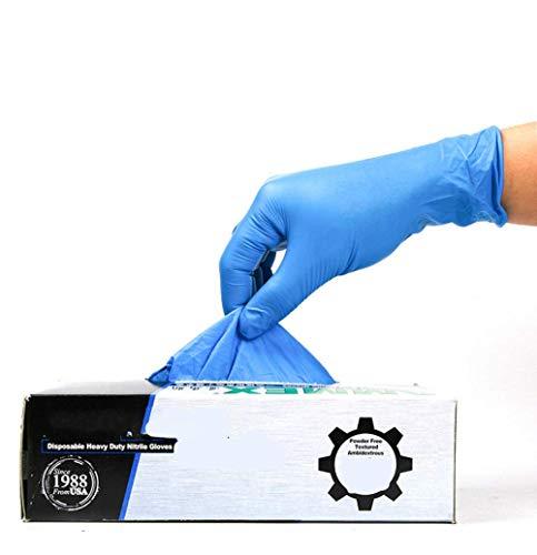 Einweg-Handschuhe aus Nitril, Einweg-Arbeitshandschuhe, ohne Puder, für die Sicherheit der Arbeit, industriell, Latexhandschuhe, 100 Stück, L, 1