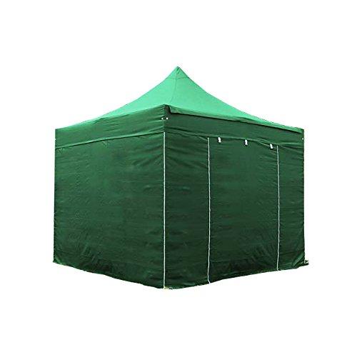 TOOLPORT Tente Pliante Barnum Pliant pavillon 3x3 m sans fenêtre en Polyester imperméable Tente de réception Vert