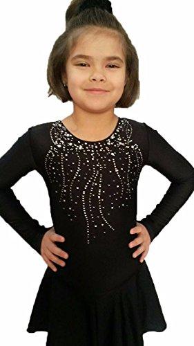 EMZA Eiskunstlaufbekleidung für Kinder und Erwachsene (Bordorot, Größe: 160-164/ Alter: 13-14 Jahre/Körpergröße in cm: 159-164)