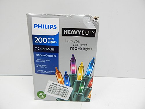 Philips Heavy Duty 200 Bulbs Multi Color Mini Lights