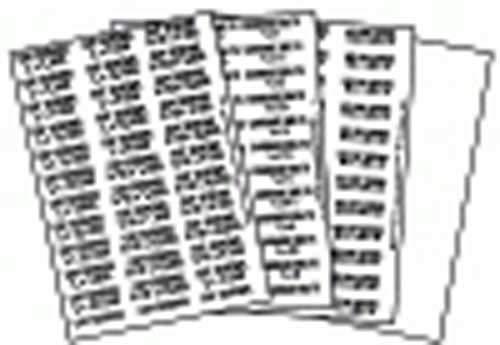 Clipsandfasteners Inc Sae Fastener Bin Labels