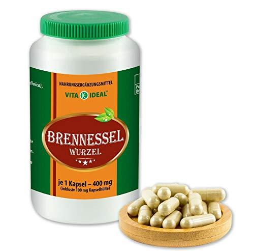 VITAIDEAL ® Brennessel-Wurzel (Urtica dioica) 360 Kapseln je 400mg, aus rein natürlichen Kräutern, ohne Zusatzstoffe von NEZ-Diskounter