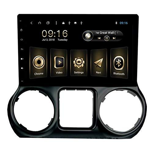 TOPNAVI 10.1Inch Auto Navigation GPS pour Jeep Wrangler 2011 2012 2013 2014 Android 8.1 Autoradio Stéréo avec 2 Go de RAM 32 Go ROM WiFi 3G RDS Lien Miroir FM AM Bluetooth Audio Vidéo