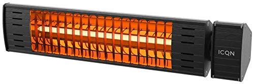 Radiator IA2000.L Halogeen Low Glare | 2000 Watt | IP55 | Terrasverwarming | Infarotverwarming | Infarotverwarming voor terras Abmessungen (mm) 100x503x70 zwart