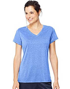 Hanes Women s Sport Performance V-Neck Tee Awesome Blue Heather X-Large