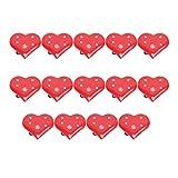 TOYANDONA 14Pcs Led Light up Red Heart Broche Pins Luminoso Intermitente Amor Broche de Corazón Broche Brillante Solapa...