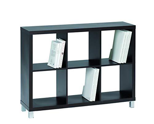 Kit Closet Estantería 'Kubox' 6 huecos negro
