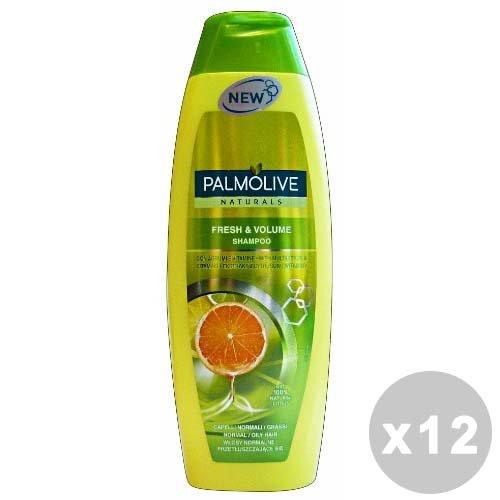 Palmolive Set 12 Palmolive Shampooing Fresh & Volume normales/Grasses 350 ml.
