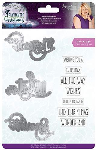 Crafter's Companion S-EC-MDS-WINWO Signature Sara handtekening kerstmagie winterwonderland stempel en stempelset 4,4 x 3,3 cm, multi, eenheidsmaat