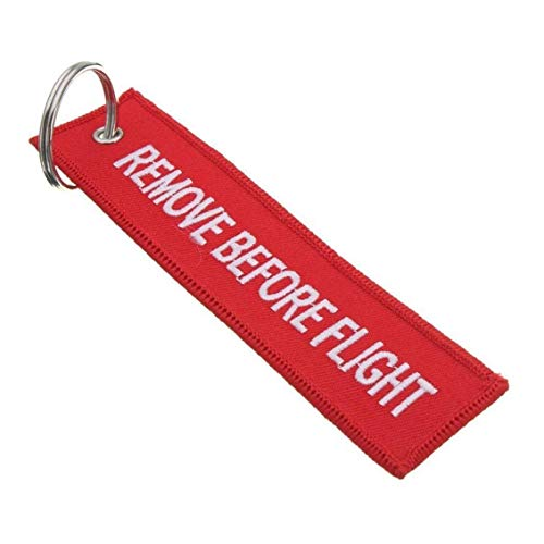 5 Pcs Remove Before Flight Keychain Luggage Tag Multipurpose Double Sided Embroidery Aviation Keychain Traveler Pilot Cabin Crew Baggage Tag, Home Supplies