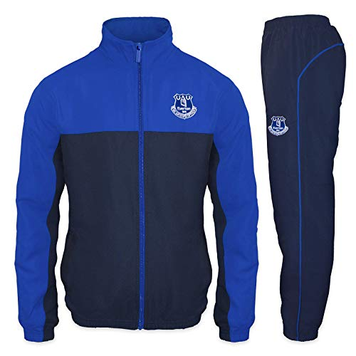 Everton FC - Herren Trainingsanzug - Jacke & Hose - Offizielles Merchandise - Geschenk für Fußballfans - L