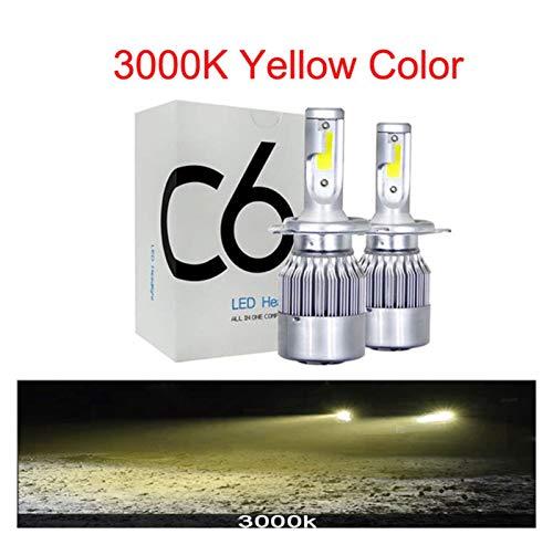RJJ Wyfan 12000k LED Turbo Car Faro Bombillas H4 H7 H1 H8 HB4 H1 H3 9005 72W 8000LM Accesorios de automóviles Auto Auto 6000K 8000K LED Luces de Niebla (Emitting Color : 3000K, Socket Type : H11)