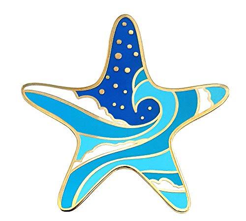 Pinsanity Ocean and Night Sky Starfish Enamel Lapel Pin