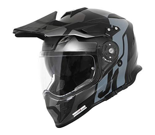 Just1 J34 Pro Tour Casco motocross Nero/Titanio