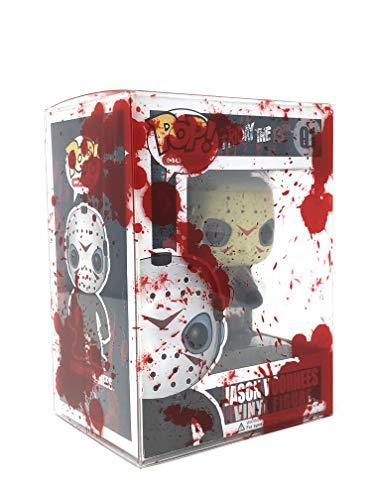 PopTekta - Blood Splatter Design Pop Protectors Soft Shells Acid Free Clear Plastic Protector Case Fits 4-inch Figures (20 Pack)