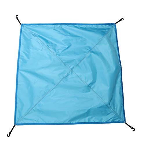 F Fityle Bâche Anti-Pluie Toile de Tente Imperméable Pliable Portable pour Camping - 81 x 81 cm - Bleu