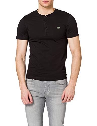 Lacoste TH0884 Camiseta, Black, XXL para Hombre