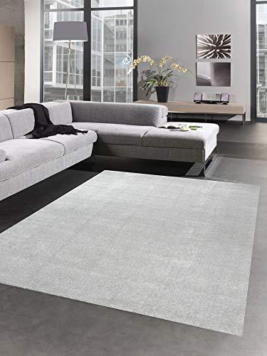 CARPETIA Modern Tapis carpette du Salon monocouche uni Gris Größe 120 cm Rund