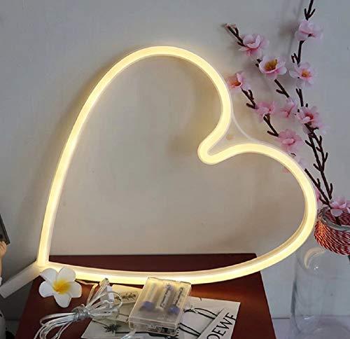 SD&EY neonlicht neon wandlamp huis decor batterij en USB neon licht warm wit neon lampen voor slaapkamer, bar, party, bruiloft, Kerstmis