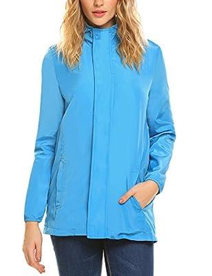Unibelle Women's Versatile Military Anorak Hoodie jackets Coats with Drawstring(S-XXL)
