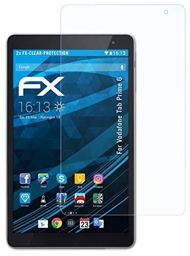 atFolix Schutzfolie kompatibel mit Vodafone Tab Prime 6 Folie, ultraklare FX Bildschirmschutzfolie (2X)