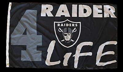 FanaticFan4Life Raider 4 Life 3x5 Flag Oakland Raiders Nation Flag- Los Angeles, Las Vegas