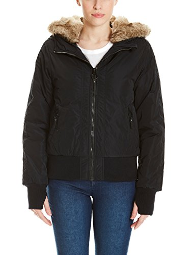 Bench Damen Rich Look Bomber Jacke, Schwarz (Black Beauty Bk11179), X-Large