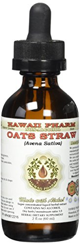 Oat Straw Alcohol-FREE Liquid Extract, Organic Oats Straw (Avena Sativa) Dried Tops Glycerite 2 oz